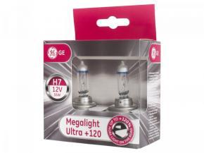 GE Megalight Ultra +120% H7 izzó pár