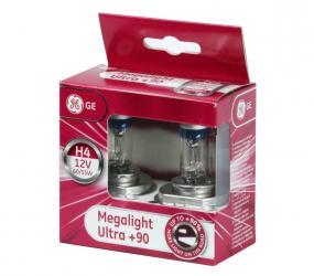 GE Megalight Ultra +90% H4 izzó pár