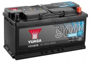 95AH 850A Jobb+ YUASA AGM START&STOP; Akkumulátor