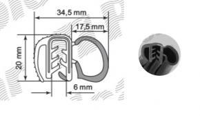 5 méter ajtó kédergumi / tömítés BMW Citroen Ford Peugeot Renault