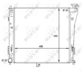 Vízhűtő Hyundai i40 1.7 CRDi