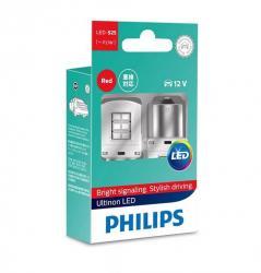 Philips Vision LED 11498ULRX2 P21W piros készlet