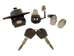 Daewoo Lanos 3/5 ajtós komplett zár készlet immobiliseres gyújtáskapcsolóval