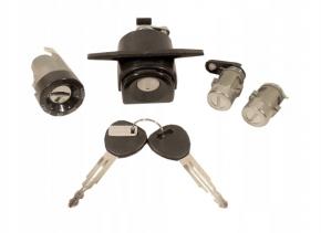 Daewoo Lanos 3/5 ajtós komplett zár készlet gyújtáskapcsolóval