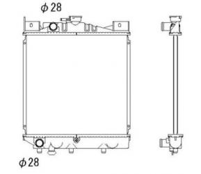 Suzuki Swift I / II 1.0 vízhűtő